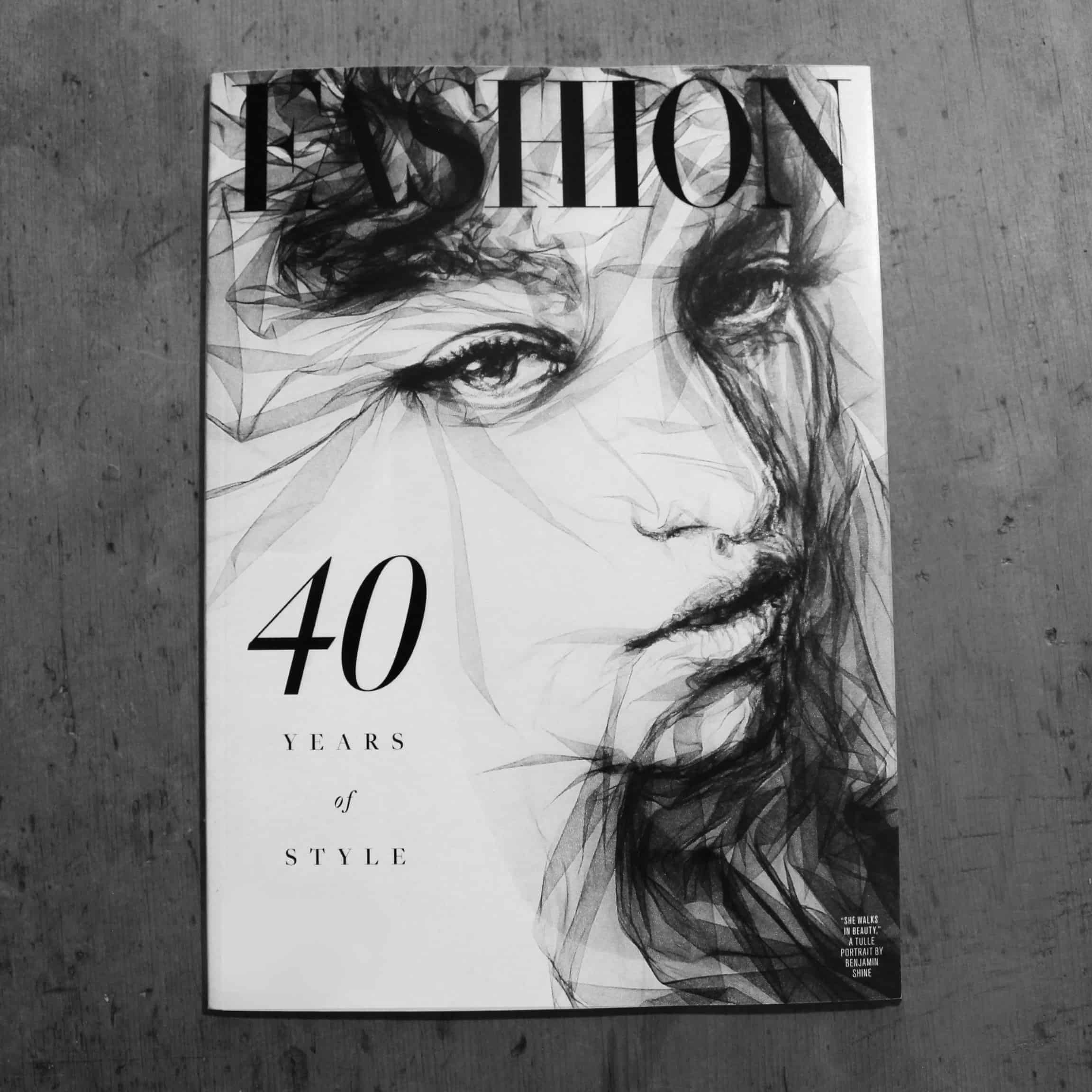 Fashion Magazine front cover - by Benjamin Shine